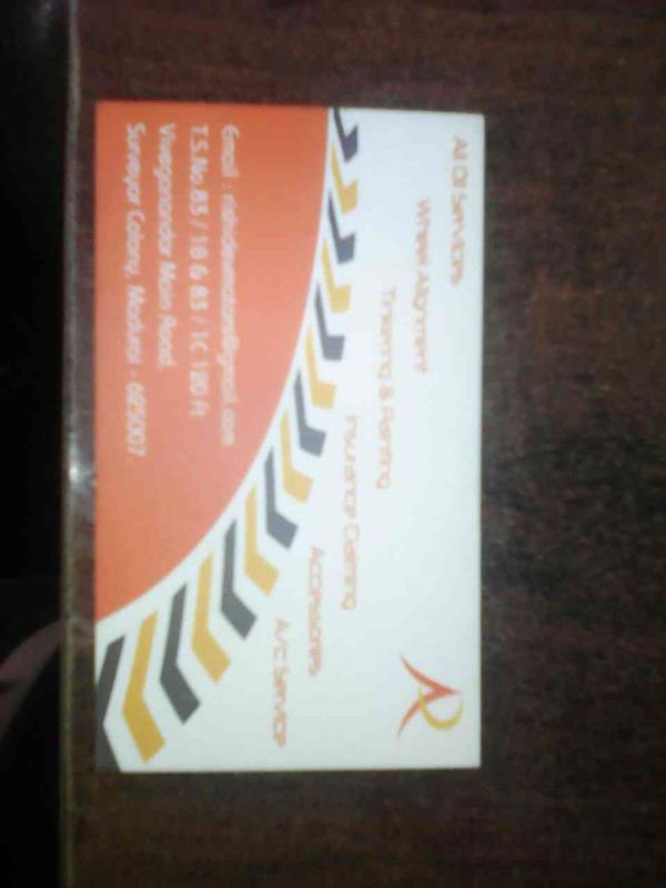 My Card - by Rishi Dev Motors, Madurai