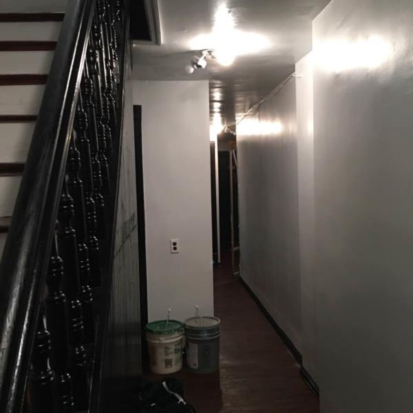 Finishing hallway painting and wood stains  - by ML Ullah Construction Co., Kings County