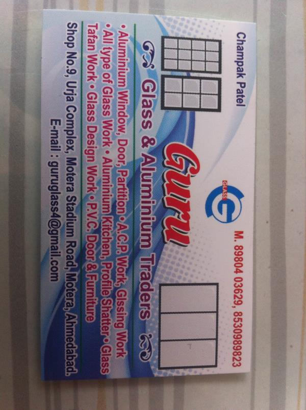Best offer available in gandhinagar - by Guru Glass, Ahmedabad