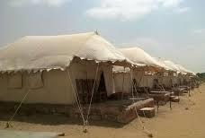 Deluxe Swiss Tents in Resort, Jaisalmer - by camel safari dunes camp, Sam