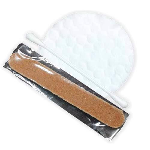 Personal Care kit  A small kit which includes personal care products like a bandage, two pieces of cotton swabs and a disposable nail filer is available with us for use in hotels and hospitals. - by 120spice, New Delhi