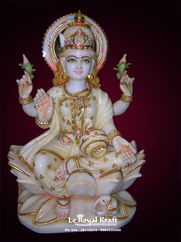 Marble laxmi Statue , Marble Lakshmi Statue , Laxmi Mata Marble Statue Manufacturers, Marble Laxmi Statue Supplier, - by Le Royal Kraft, Chennai
