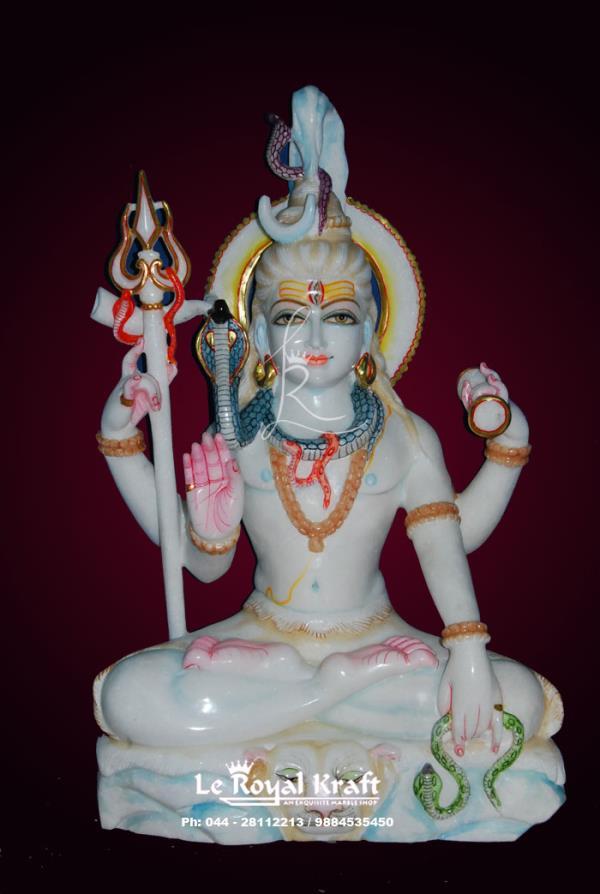 Marble Shiv Statue, Marble Shiva Statue, Marble Shiva Statue Manufacturer, Marble Shiva Statue in chennai, - by Le Royal Kraft, Chennai
