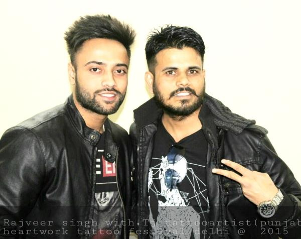 rajveer singh with tj tattoo artist
