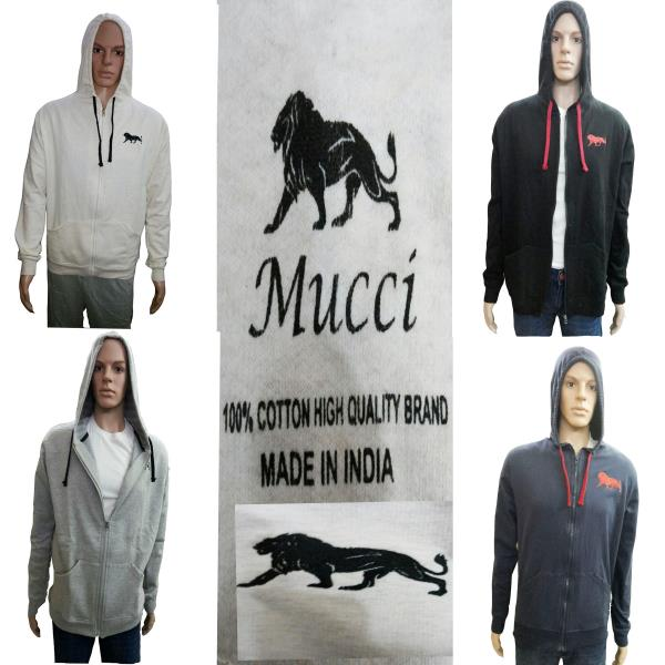 MUCCI Branded Sweatshirts available in 4 colours and 4 Sizes People interested in Dealership can also contact us on 9390246000 or cmail on clothingdeckharsh@gmail.com - by CLOTHING DECK, Hyderabad