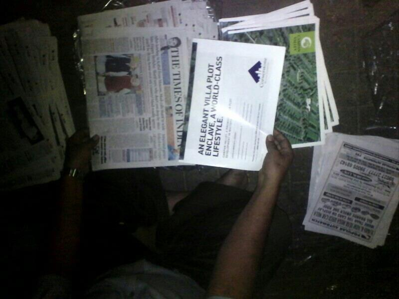 Newspaper insertion all over bangalore  - by Global Advertising Agency, Bangalore