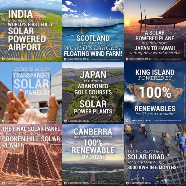 It's solar everywhere.