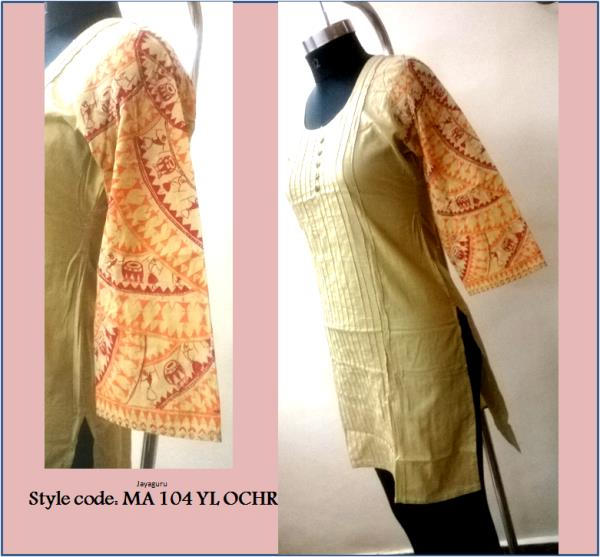 It is a great initiative to introduce an exclusive range of hand painted designs ranging from kurtis, tunics, dresses and tops. These pieces have been individually crafted. Surely you will love them !!  - by Wonderstitch In House Brand Mudrayas, Bhubaneswar