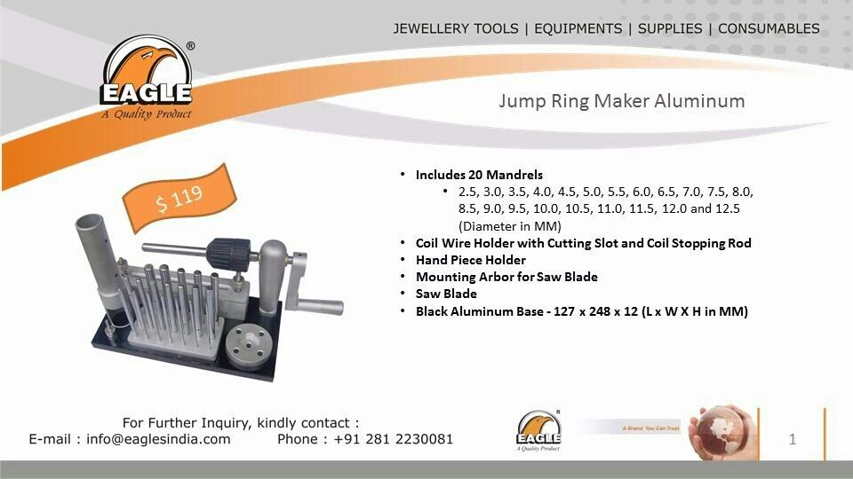 Eagle Jump Ring Makers.