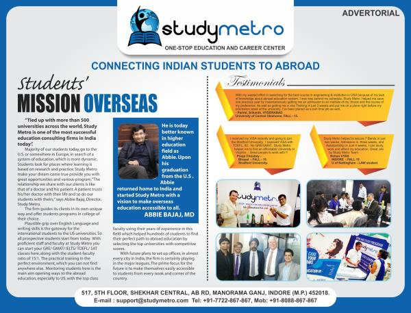 Life time opportunity @ Study Metro. Study Metro invites you to avail the opportunity of spot admission from St Mary university delegates at our Bangalore office on Jan 7th from 2pm onwards. http://page.studymetro.com/St-Mary-Spot-Admission If you are unable to attend seminar you can attend on-line webinar please register here  Webinar : https://attendee.gotowebinar.com/register/3078515281755114241