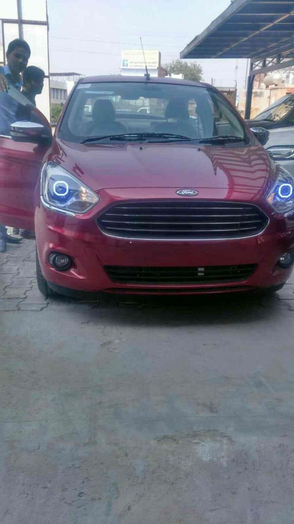 projectors installed on ford aspire @motominds