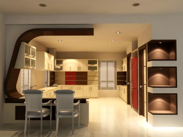 Modular kitchen in bangalore - by Vzone Interiors & Exteriors, Bangalore