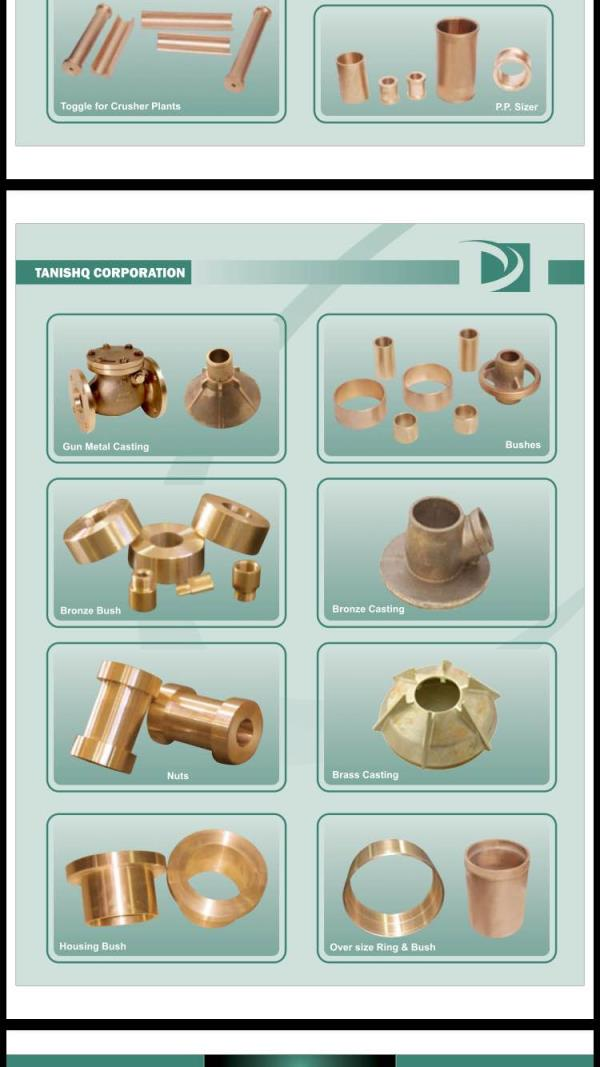 Gunmetal bush manufacturers in Rajkot - by Tanishq Corporation, Rajkot