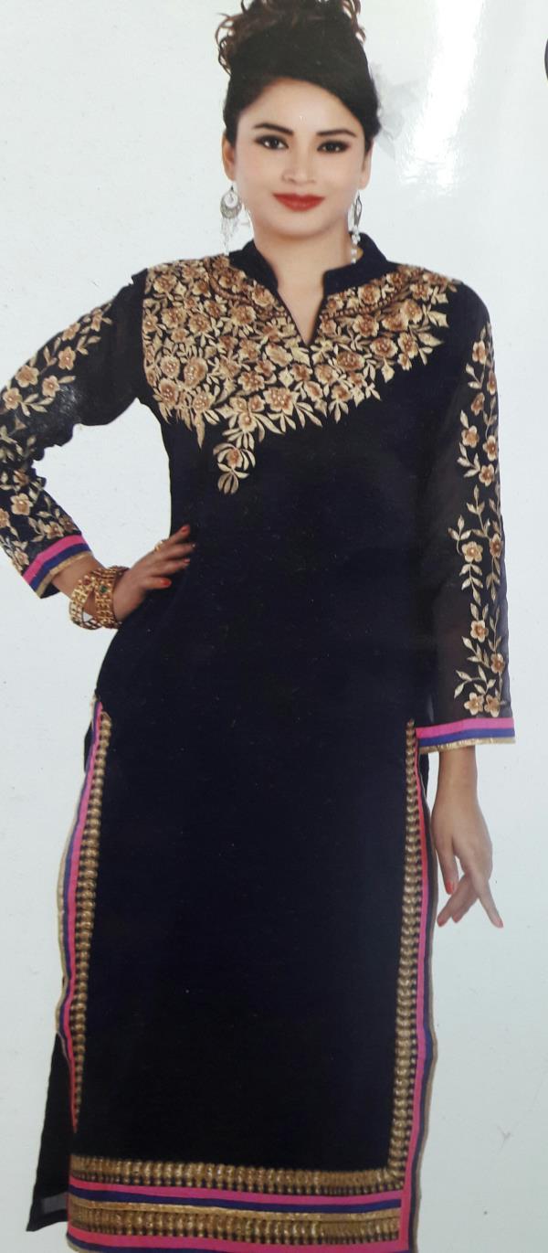 New Arrivals,   Heavy Party Wear Shifon Kurti  - by Gurukrupa Collection, Mumbai