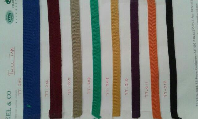 TWILL TAPES :Manufacturers of Twill Tapes in Cotton & Polycotton.