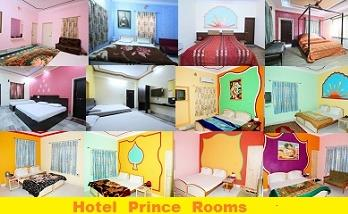 Hotel Prince Rooms:  The hotel provides well-designed standard A/c and non A/c, deluxe non A/c and A/c and family suites non A/c. Each of these rooms are traditionally furnished with vibrant interiors. These rooms comprise of amenities like - by Hotel Prince & Resort, Jaisalmer