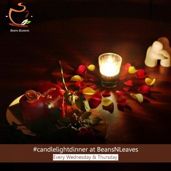 Top 5 Reasons to do a ‪#‎candlelightdinner‬ at ‪#‎BeansNLeaves‬  ‪#‎Reason3‬: At Beans & Leaves, we do the table décor with fresh rose petals sourced from the farms. Adds that romantic touch, don't you think? - by Beans And Leaves, Ahmedabad