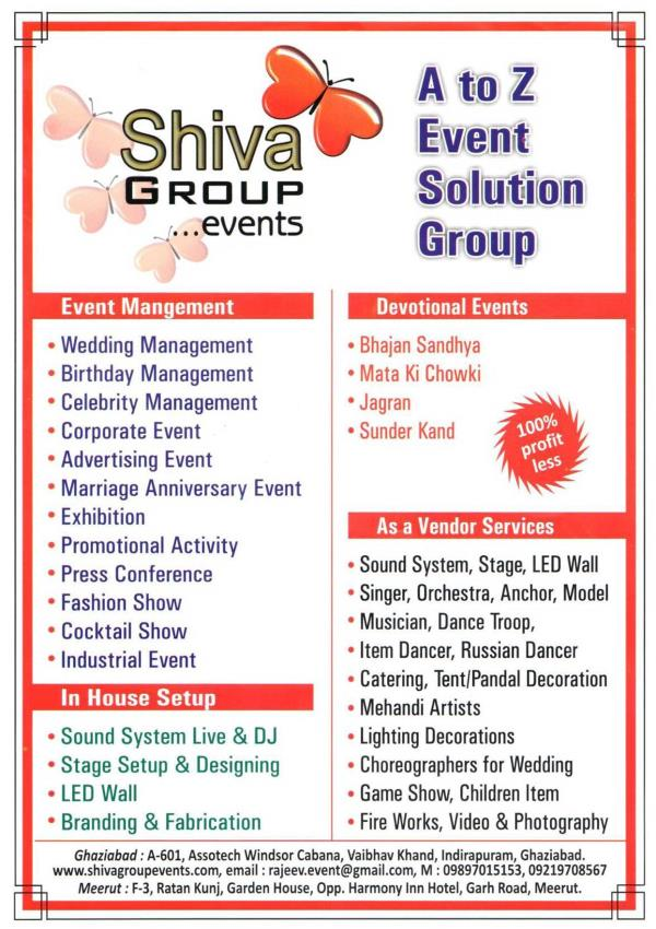 Best event Organizer in meerut, meerut top event organizer, best event planer, event planer in meerut, meerut top event planer. - by Shiva Group Events , Event Organizers ,Event Management Company ,Caterers, Meerut