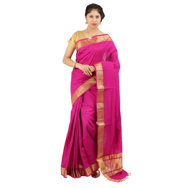 Designer Saree Manufacturer In Salem We are among the illustrious manufacturers, suppliers and exporters of Kalyani Contrast Sarees in the industry. These sarees are characterized by rich colors and have a striking appearance. Their contrasting colors create a dazzling effect, making them statement pieces. These sarees have been created with the application of premium quality materials and are long lasting. Customers are reasonably charged for these sarees.  Features:      Rich colors     Long lasting pieces     Premium quality materials used     kalyani plain saree many colors available