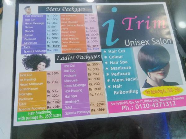 salon in vasundhara. i trim is one of the best salon in vasundhara that provide all kind of hair & skin treatment. i trim is best salon in vasundhara, ghaziabad - by I Trim Unisex Saloon, Ghaziabad