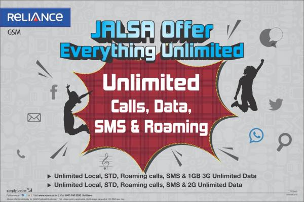 Jalsa Offer Everthing Unlimited - by Reliance Mobile Store, Mumbai