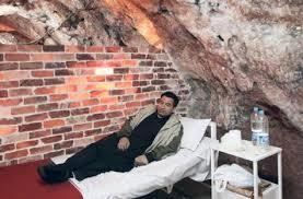 History of Salt therapy 'Salt Room Therapy' is a drug-free treatment for chronic and acute Respiratory and skin disorders such as Asthma, Bronchitis, Allergies, Sinusitis, Eczema, Psoriasis and more. The therapy is widely used to fight stress also.  alt therapy originated in Eastern Europe in the 1800s where there is an abundance of natural salt caves. It was discovered that these natural salt caves had miraculous healing properties owing to the presence of salt in them. These caves were converted into natural healing clinics for patients suffering from respiratory ailments. But since these natural salt caves were very few in number and were not present everywhere in the world, people started building artificial salt caves. These artificial caves came to be known as 'SALT ROOMS' and the therapy as Salt Room Therapy. In the last few decades,