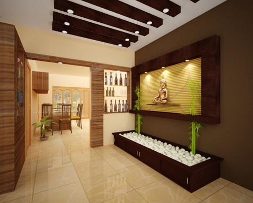 Kerala House Foyer : Decorative foyer design by decormyplace