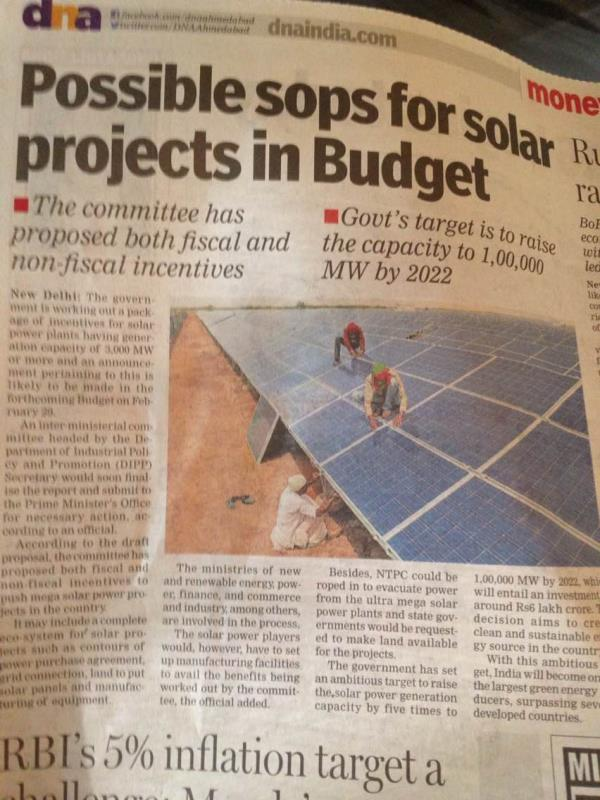 Solar Projects Boosted
