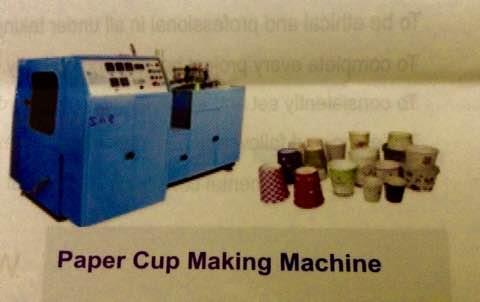 Manufactures and suppliers of PaPer Cup Making Machines in Hyderabad, Andhra Pradesh, Secunderabad and Telangana - by Saaar Engineering Works, Hyderabad