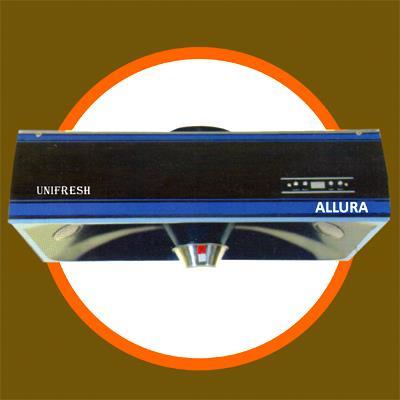 Product name – Allura Description – Model : Allura                          Suction : 900 m3 / hr                          Dimension : 720 x 500 x 185                          Motor : One                          Power consumption : 180 watt                          Max Illumination : 2 x 15 watt                          Oil collector, Auto clean                          Price – 13490