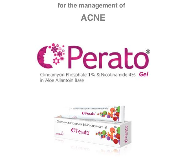 pcd pharma company, pcd pharma companies, pcd pharma, PERATO GEL, CLINDAMYCIN 1% & NICOTINAMIDE 4% IN ALOE ALLANTOIN BASE, FOR THE MANAGEMENT OF ACNE.
