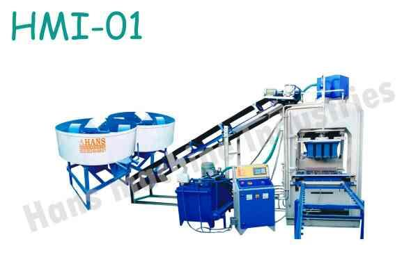 we are leading manufacturer of automatic fly ash brick making Machine in Morbi - by Hans Machine Industries, Morbi