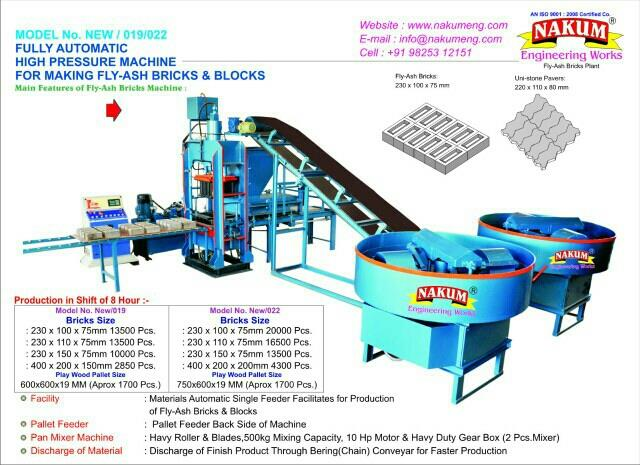 we are leading in fly ash bricks making machine in Morbi