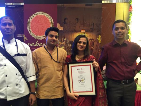 Glad to share that Nabanno have won the prestigious Times Food Award for consecutive 2 years for the Best Bengali Restaurant. We thank all our patrons and well wishers for the love and support