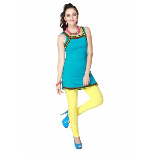 Premium quality Lycra, Spandex, nylon, cotton, polyester blend, wool, silk and other materials are used to fabricate our entire range of modern apparels. Our product range can be availed in a multitude of colours and decorative designs. Material: Cotton and Viscos Lycra Style: Churidaar Legging Pattern & Fit: Skin fit - See more at: http://aelux.in/