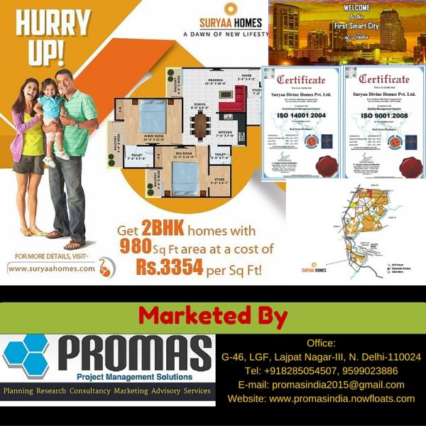 Suryaa Homes: First Smart City Of India - by Promas India, New Delhi