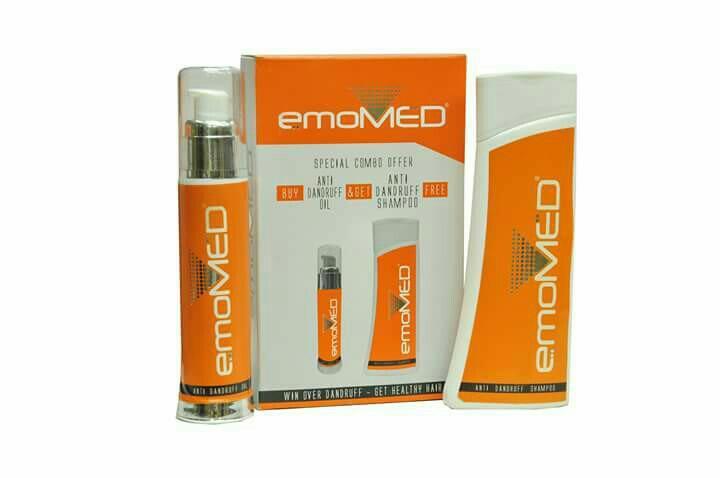 emo med anti dandruff oil  and shampoo