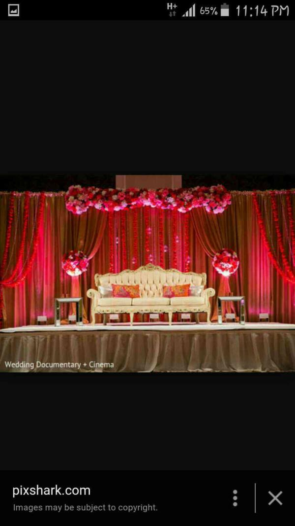 best wedding stage decoration in trichy  - by Shana Wedding Planners, Trichy