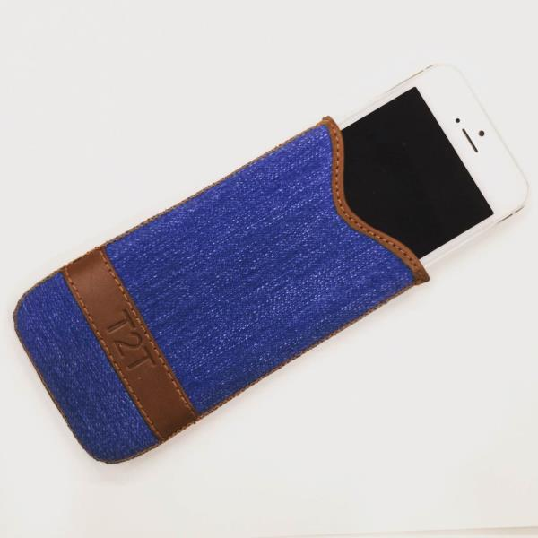iphone 5/5s slip in case , denim