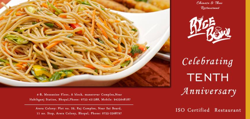 best chinese restaurant in bhopal - by Rice Bowl Chinese & Thai Restaurant, Bhopal