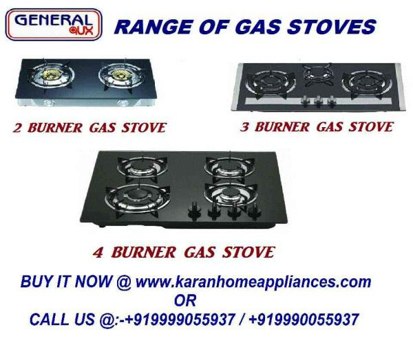 Gas Stove in Delhi  Avail from us a quality range of 2 3 & 4 burner gas stoves for various cooking applications. These can be helpful in cooking 3 dishes at the same time and are extremely easy to use. With sturdy construction, sleek designs, these are highly resistant to corrosion  Save your time by cooking 3 items at a time and without the hassle of pressing the lighter.   Features:   Auto ignition & Manual Ignition Tempered glass top Brass burner cap Stainless steel stove body Low gas consumption.   Automatic 2 3 & y Burner Gas Stoves  Buy Gas Stove Now :- http://karanhomeappliances.com/product_listing.php?category_id=53&