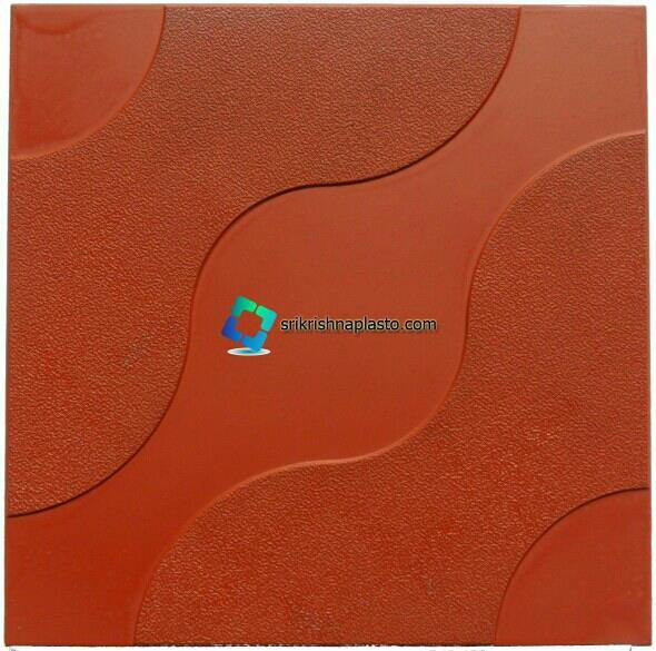 """Rubber mould's for Designer floor Tile and interlocking Tiles Plastic Moulds now available in glossy finish.  buy now high quality """"Concrete Tiles making machines"""" and """"Rubber Moulds for cement Tiles. - by interlocking Paver Block Making Machine Manufacturers in Delhi India., Delhi"""