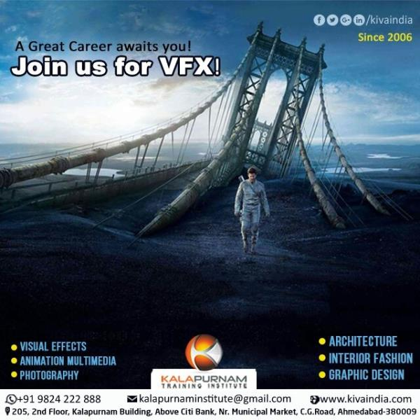#Visual effects is also well known by its short name #VFX.   #Kalapurnam  #Institute offers  #Best  #Quality  #Training for VFX since 2006.  A #Great  #Career awaits you.   Join us for VFX.   It gives best Career  #Opportunity.