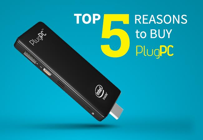 Top 5 Reasons to buy PlugPC | Compute stick,  I am Sure you Gonna Love it   1) A Pocket Home Theatre PC  Transform any HDMI TV into full Fledged Computer or Entertainment Gadget by simply connecting PlugPC through HDMI Connector. Stream Internet Content by connecting through Wi-Fi Or you can Access the Presentation files through Cloud..  Just Plug in .. Log in.. Sit Back & Enjoy  2) The Traveller's Companion   Carrying a Laptop or Tablets PC's are ruled out with this Tiny Gizmo..  Carry a computer wherever you are — from hotel room to vacation rental, from co-working cubicle to conference room  3) Give Presentation on Large Screens   Sometimes a small laptop or tablet screen just won't do, such as when creating digital artwork. When you need to see something large, just plug in this Plug PC to an extra large monitor or that 65″ television.  4) Save Money   Instead of Purchasing Monitors we can use already existing TV's as a PC so that it can slash half of the Capex Amount. Best thing is it comes with Preloaded OS ( Windows 10 or Andorid need not to keep extra amount for this)     5) Energy Efficient & Noise Free Office environments  It Hardly Takes 5 Watts of Power almost Negligible compared to Traditional PC's which takes (160 to 230 Watts of power) & No Moving Components inside makes Noise free Environments