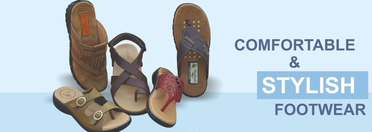 """Diabetic Footwear"" and ""Orthopedic Footwear"" are available with us in various range and specifications following the precise demands and requirements of Consumers. - by MediFeet 
