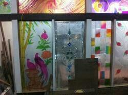 Glass desining job work - by National Glass and Alluminium, Indore