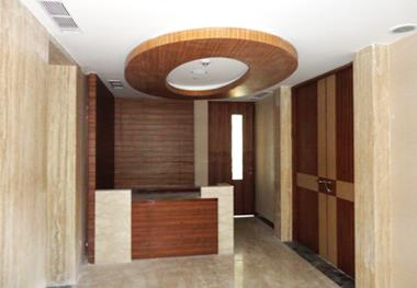 A False ceiling is a secondary ceiling that is suspended below the main ceiling of the room. False ceiling inside residence are mainly done with POP or Gypsum board material. False Ceiling reduces height of the room & thus gives more effici - by Vinayaga Modular Kitchen & Interiors, Chennai