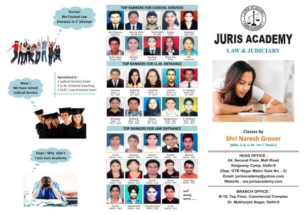 LLB entrance exam coaching fresh batch starts, Classes is going on with full swing, interested may contact given numbers 8510905050, 8010905050 - by LAW AND JUDICIARY COACHING, North Delhi