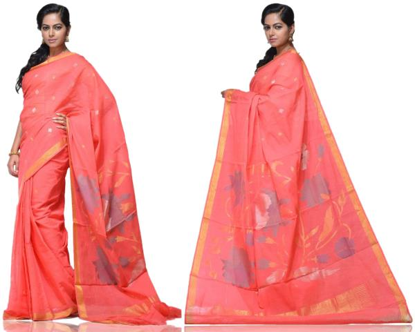 Price: - 11000/-   New designs of khadi sarees, khadi cotton silk sarees, khadi cotton fabric, khadi silk sarees. Sign up now for E-book you will be updated with latest collection of ethnic verities. For More Info Click on :- www.uppada.com - by Paithani, Hyderabad