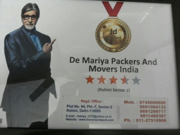 Packers and Movers in Pitampura  Are you going to shift your items to new location? Contact us now for shifting goods with care. - by De Mariya Packers & Movers - Shifting with Care, New Delhi
